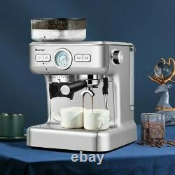 20 Bar Espresso Coffee Maker 2 Cup /w Built-in Steamer Frother and Bean Grinder