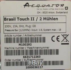 Aequator Brasil Touch II Rijo42 Bean To Cup Coffee Espresso Cappuccino Machine