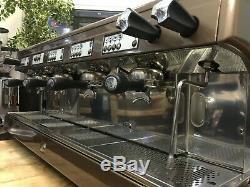 Astoria Perla 4 Group Brown Espresso Coffee Machine Barista Latte Beans Cup Cafe