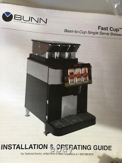 BUNN fast cup bean to cup single serve brewer Hoppers accessories Coffee Ice