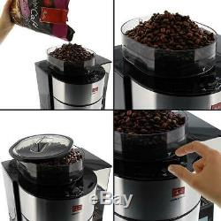 Bean to Cup Filter Coffee Machine Programmable Maker Glass Jug Grinder Brewing