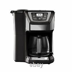 Coffee Maker With Grinder Automatic Whole Bean 12 Cup Machine Quick Touch Brewer