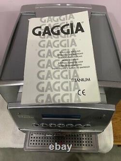 GAGGIA TITANIUM COFFEE MACHINE Bean To Cup
