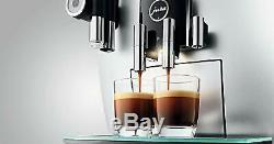 JURA 15111 J6 Automatic Bean to cup Coffee Machine Brilliant Silver J. O. E Smart