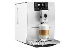 Jura Ena 8 Bean To Cup Coffee Machine in Nordic White EU 2 Pin Plug Model