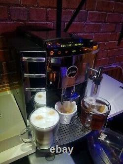 Jura F9 CHROME bean to cup coffee machine cappuccino