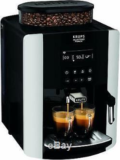 KRUPS Arabica Digital Espresso EA817040 Bean To Cup Coffee Machine Silver