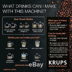 KRUPS Arabica Digital Espresso EA817040 Bean to Cup Coffee Machine Black