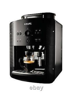 Krups Espresseria EA8108 Automatic Bean to Cup Coffee Machine, Black Energy A