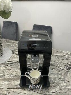 Krups Evidence Smart Bean to Cup Coffee Machine barely used Black EA89 with App