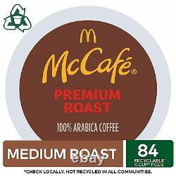McCafe Premium Medium Roast Coffee Keurig K-cup Pods 100% Arabica Beans 84 Count