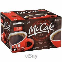 McCafe Premium Roast Medium Coffee K-CUP PODS 84 Count 100% Arabica Beans