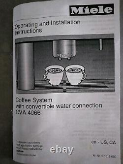 Miele Complete Coffee System- Built In, Stainless, Whole Bean to Cup. Excellent