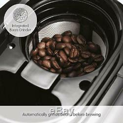 Morphy Richards 162100 Bean to Cup Grind and Brew Coffee Machine, Glass, 600 W