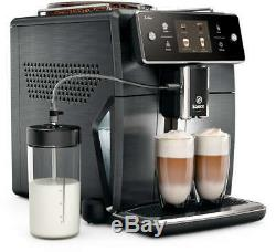 Saeco Xelsis SM7686 Bean to Cup Coffee Machine Full Metal Titanio color