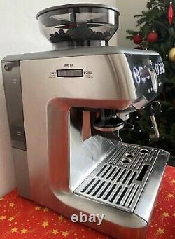 Sage Barista Express Bean-to-Cup Coffee Machine, 15 Bars, BES875UK, Stainless Steel