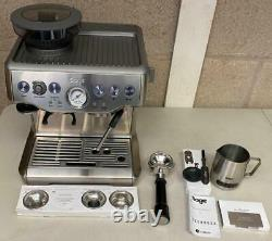 Sage The Barista Express BES875UK Bean to Cup Coffee Machine, Silver E