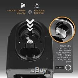 Viante Mini Coffee Maker with grinder built in Grind and Brew. Bean to Cup U