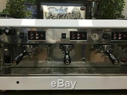Wega Atlas 3 Group White Espresso Coffee Machine Restaurant Cafe Latte Beans Cup